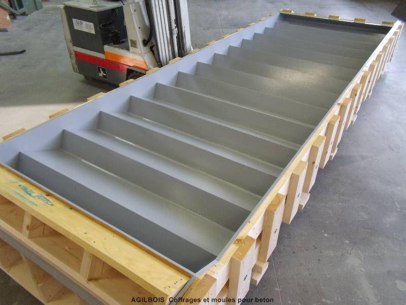 Coffrage bois pour b ton fabricant de coffrage sur mesure - Coffrage escalier beton quart tournant ...