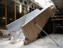 Custom concrete staircase formwork Louvre